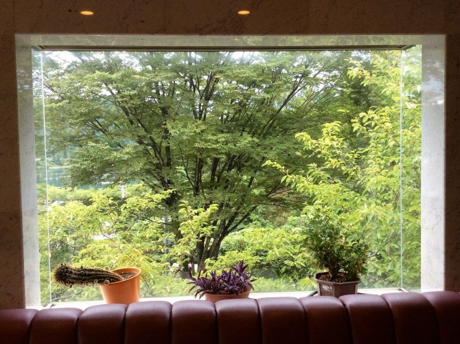 景色を切り取ったような窓の家