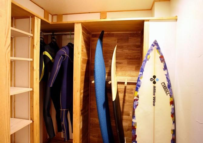サーファーの家