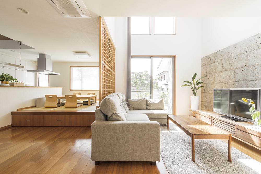 living room&Japanese- style room